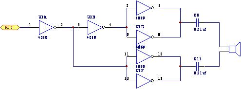 1为超声波发射驱动电路cd4069电源控制端