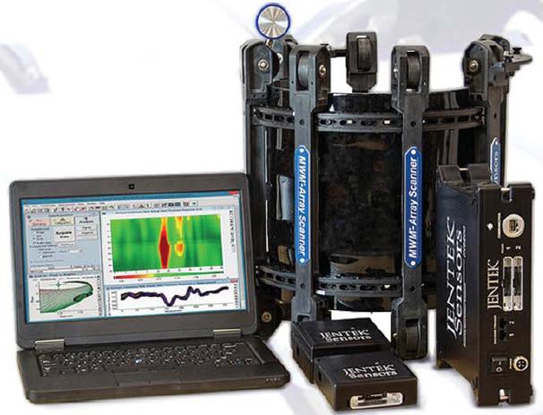 JENTEK 传感器公司为石油和天然气、石油化工、航空航天和国防工业部门生产和交付基于电磁场技术的高性能无损检测解决方案。JENTEK传感器公司成立于1992年,致力于MWN涡流传感器的商业化应用推广。MWM传感器系列包括感应式传感器(MWM阵列)、电容式传感器(IDED)和磁阻式传感器(MR-MWM阵列),并借助精密阻抗测试仪及相关软件实现特殊检测能力。 JENTEK为其所有的产品和应用开发工艺提供全方位的服务和技术支持。JENTEK还为下列应用领域提供服务: -透过保温层和防火层(CUI和CUF)对管